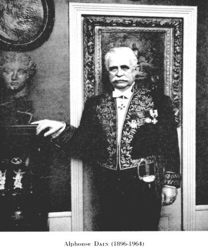 Portrait d'Alphonse Dain
