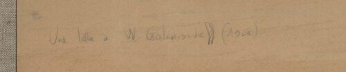 Inscription au verso du document écrit par Afifa Scandar Ibrahim pour Wl. Golenischeff.